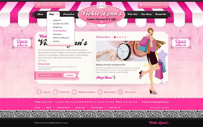 Second example of Levanta's Interactive Houston Web Design